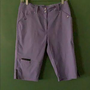 Jamie Sadock Golf Knee Capri purple Sz 4